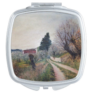 EARLIEST SPRING IN VERNALESE / Tuscany Landscape Compact Mirror