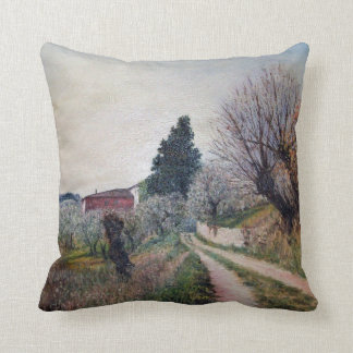 EARLIEST SPRING IN VERNALESE / Tuscany Landscape Pillow
