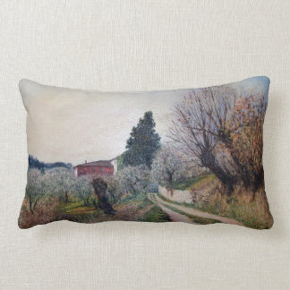 EARLIEST SPRING IN VERNALESE / Tuscany Landscape Throw Pillows