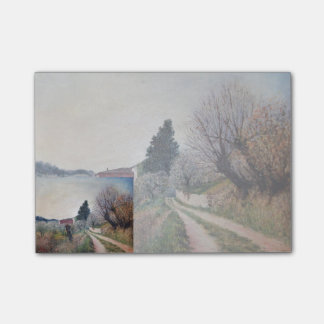 EARLIEST SPRING IN VERNALESE / Tuscany Landscape Post-it® Notes