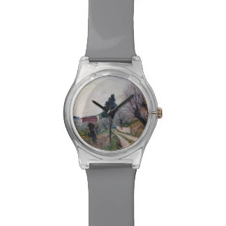 EARLIEST SPRING IN VERNALESE / Tuscany Landscape Wrist Watch
