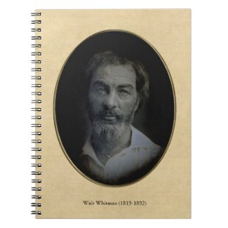 Earliest Walt Whitman Portrait Spiral Note Books
