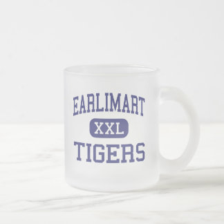 Earlimart Tigers Middle Earlimart California Frosted Glass Coffee Mug