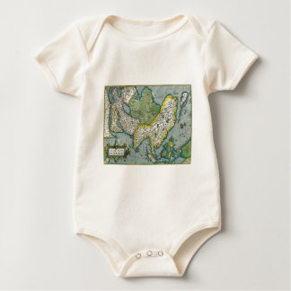 Early 16th Century Map of Asia Baby Bodysuit