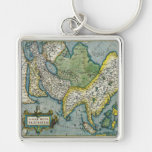 Early 16th Century Map of Asia Key Chains