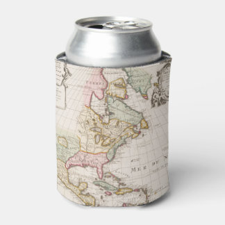 Early (1708) American Map ~ Vintage, L'Amerique Can Cooler
