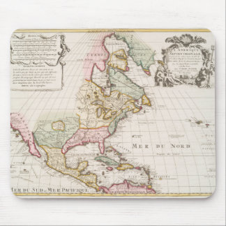 Early (1708) American Map ~ Vintage, L'Amerique Mouse Pad
