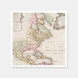 Early (1708) American Map ~ Vintage, L'Amerique Napkin