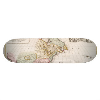 Early (1708) American Map ~ Vintage, L'Amerique Skateboard Deck