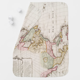 Early (1708) American Map ~ Vintage, L'Amerique Swaddle Blanket