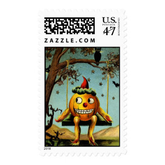 Early 1900s Halloween Jack O'Lantern Postage
