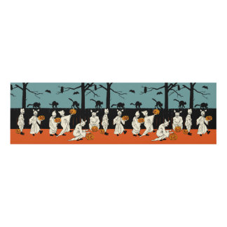 """Early 1900s """"Spooks On Parade"""" Halloween Panel Wall Art"""