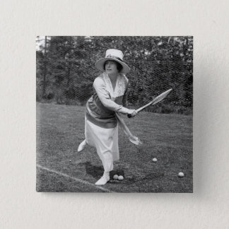 Early 1900s Tennis Fashion Button