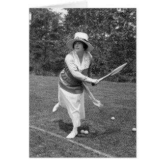 Early 1900s Tennis Fashion Card