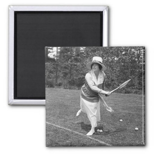 Early 1900s Tennis Fashion Fridge Magnets