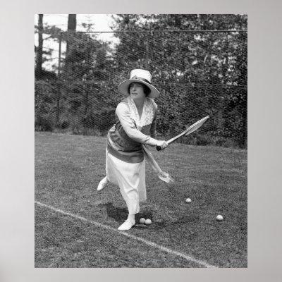 Roaring Twenties Fashion Women Sports on Tennis 1910s Or 1920s