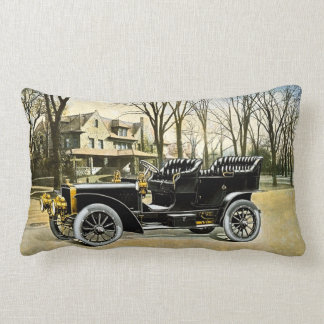 Early 1900s Touring Car Vintage Automobile Throw Pillow