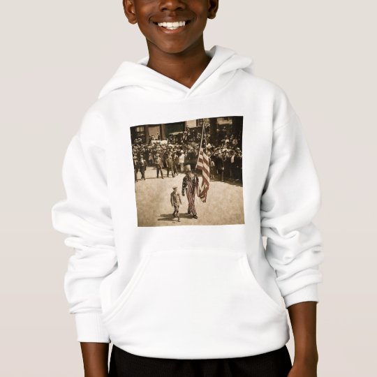 Early 1900s Uncle Sam Fourth of July Hoodie