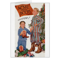 early 1950s cowboy boots for Christmas Card