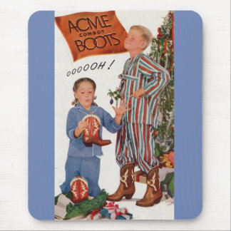 early 1950s cowboy boots for Christmas Mouse Pad