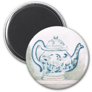 Early 20th Century Blue and White Teapot Magnet