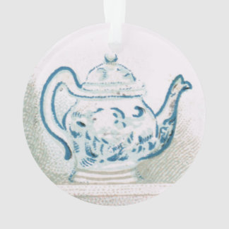 Early 20th Century Blue and White Teapot Ornament