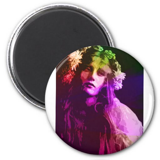 EARLY 20th CENTURY FLOWER CHILD 2 Inch Round Magnet