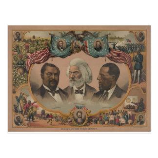 Early African American Heroes Postcard