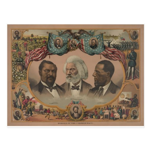 Early African American Heroes Postcards