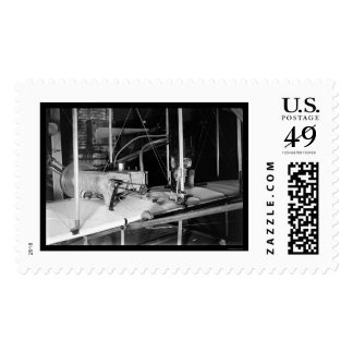 Early Airplane Engine in Wright Bothers Shop 1903 Stamps