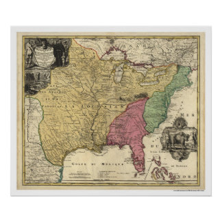 Early America Map 1763 Poster