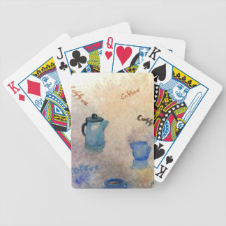 Early American Morning Coffee Home Comforts Bicycle Playing Cards