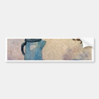 Early American Morning Coffee Home Comforts Bumper Sticker