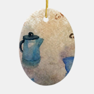 Early American Morning Coffee Home Comforts Ceramic Ornament