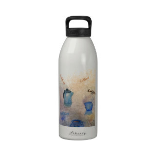 Early American Morning Coffee Home Comforts Reusable Water Bottle