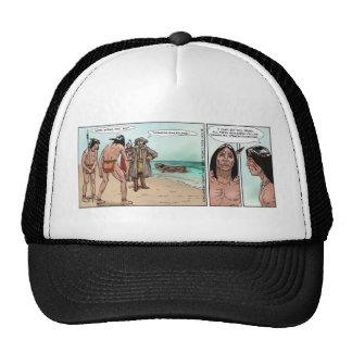 Early American Settlers Offbeat Cartoon Gifts Trucker Hat