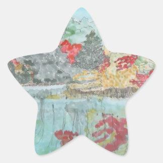 Early Autumn Stream Star Sticker