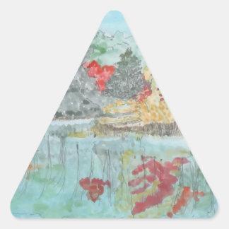 Early Autumn Stream Triangle Sticker