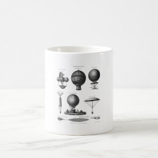 Early Balloon Designs - Vintage Aeronautics Coffee Mug
