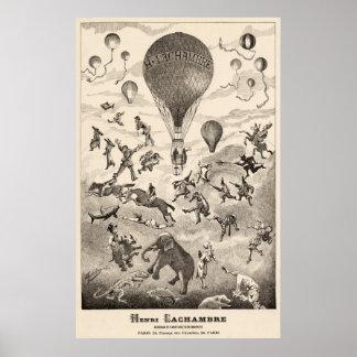 Early BALLOON Maker Henri Lachambre Advertising Poster