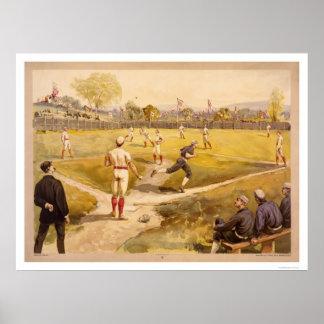 Early Baseball Print 1887