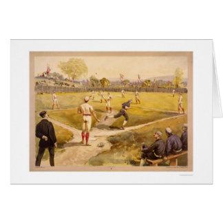 Early Baseball Print 1887 Card