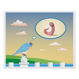 Early Bird by the Water Children's Poster Print