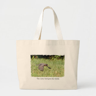 Early Bird Gets The Worm Tote Bags