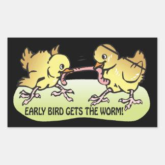 Early Bird Gets The Worm Rectangular Sticker