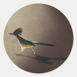 Early Bird round stickers