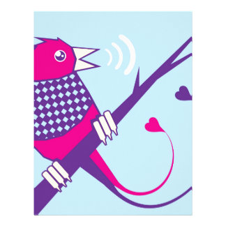 Early Bird singing Letterhead