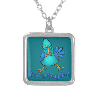 Early Bird Square Pendant Necklace