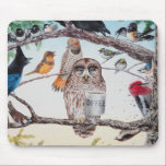 "&quot;Early Birds&quot; Mousepad<br><div class=""desc"">Some of us are early birds...  some of us are just night owls relying on coffee.</div>"