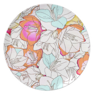 Early Bloomer Melamine Plate